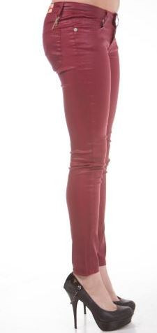 Machine Red Coated Skinny Jean
