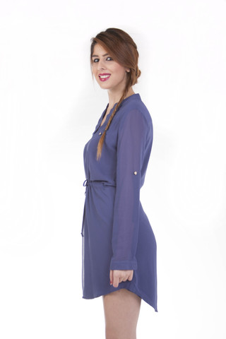 v neckline shirt dress
