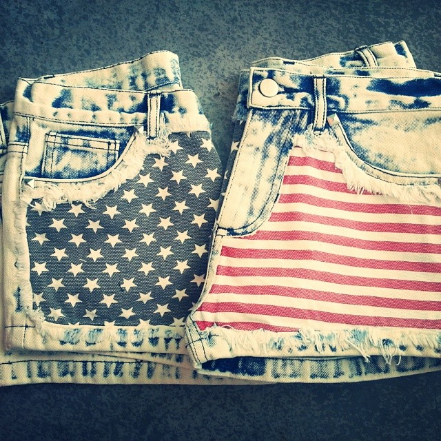 flag summer shorts