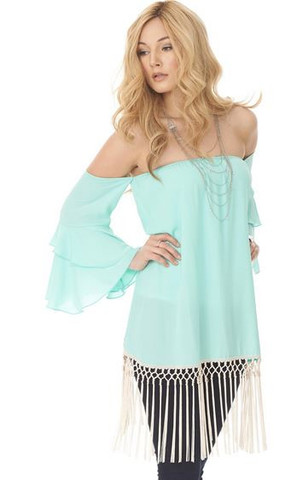 Fringe Top Mint