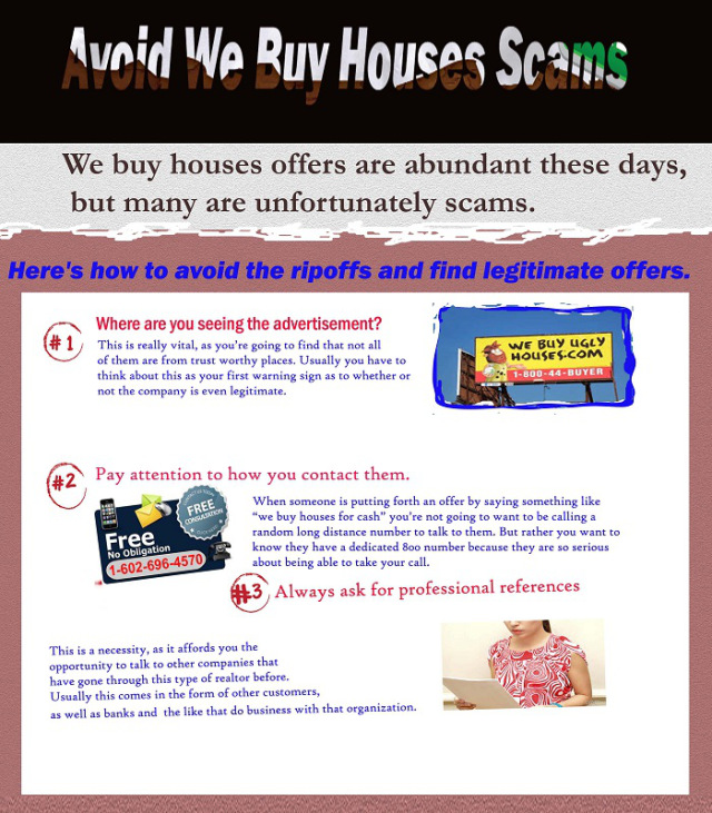 How to avoid from we buy houses scams